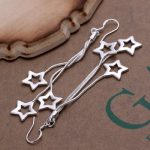 long wire star earrings