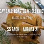 whole foods roasted chicken sale