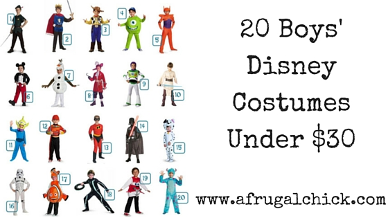 20 Boys' Disney Costumes Under $30