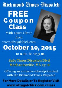 Richmond Coupon class October 10
