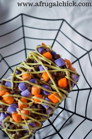 Rocky Road Halloween Bars Up and Down with URL