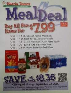 harris teeter meal deal meatballs