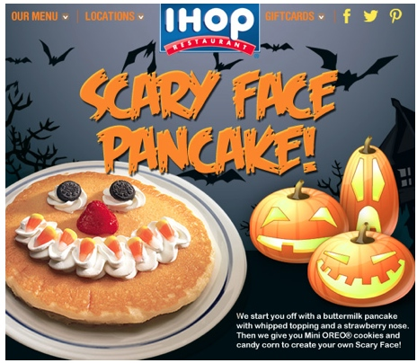ihop scary face pancake 2015