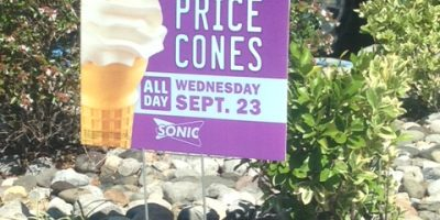 sonic half priced cones sept 23