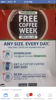 7-11 free coffee week