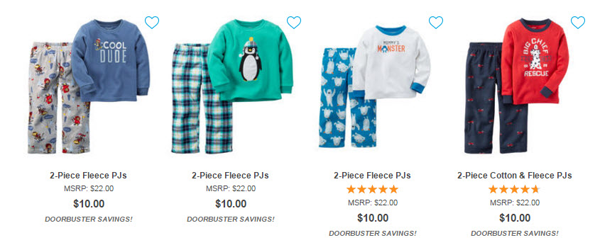 carters pajamas sale