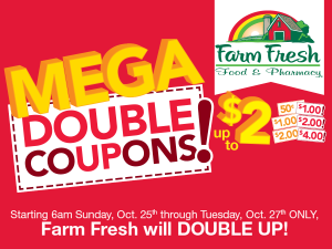 farm fresh mega doubles october 2015