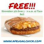 free taco bell a frugalchick