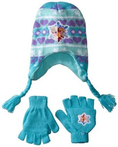 frozen hat and gloves