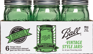 green ball jar