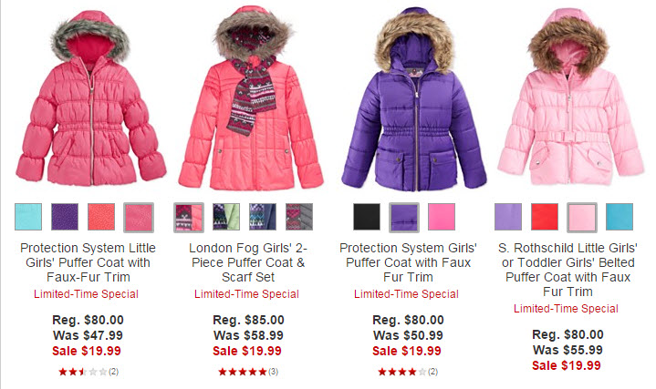 Macys.com: Kids' Coats and Jackets Only $19.99 (Reg $85!!) - A