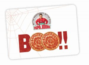 papa johns halloween gift card