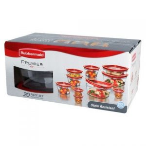 rubbermaid 20 piece set