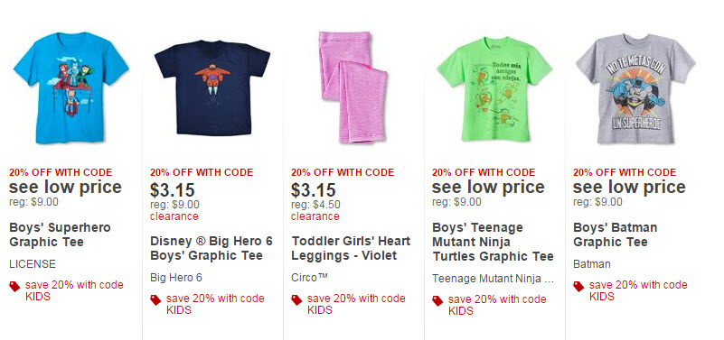 c8700fbf3 Target.com: Extra 20% Off Target Kids Clearance Clothes