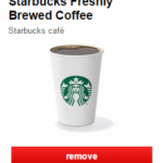 target starbucks coffee fifty percent
