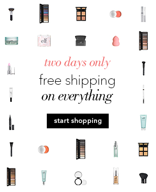 two days free elf cosmetics