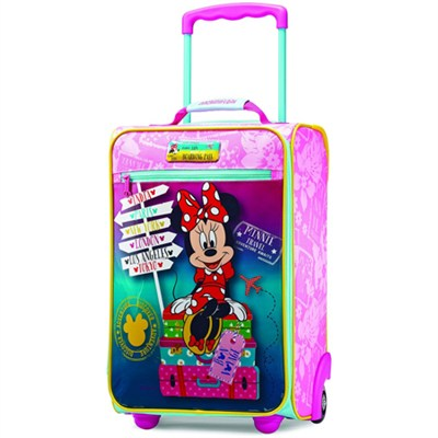 American Tourister Upright Kids Disney Themed Softside Suitcase (Minnie)
