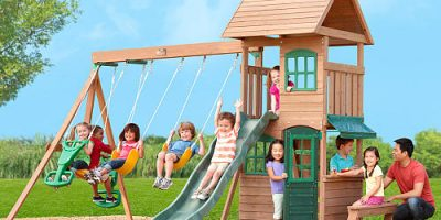 Big Backyard Windale Wooden Swing Set