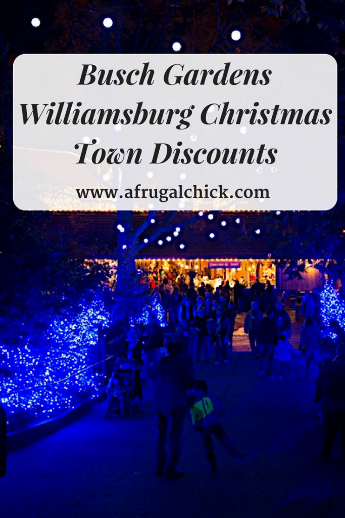 Christmas town discounts Busch gardens pass member benefits
