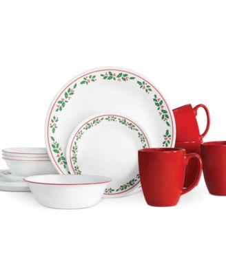 Corelle Winter Holly 16-Piece Set, Service for 4