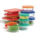 Pyrex-Storage-Set-with-Color-Lids