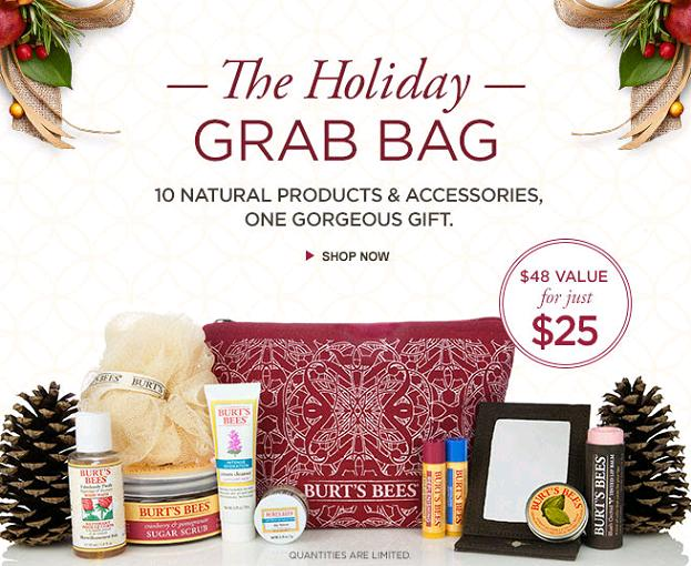 burts bees holiday grab bag 25 48 value with free