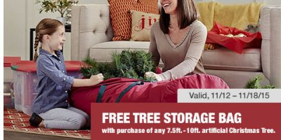 home depot free storage bag