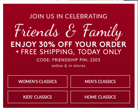 lands end sale holiday