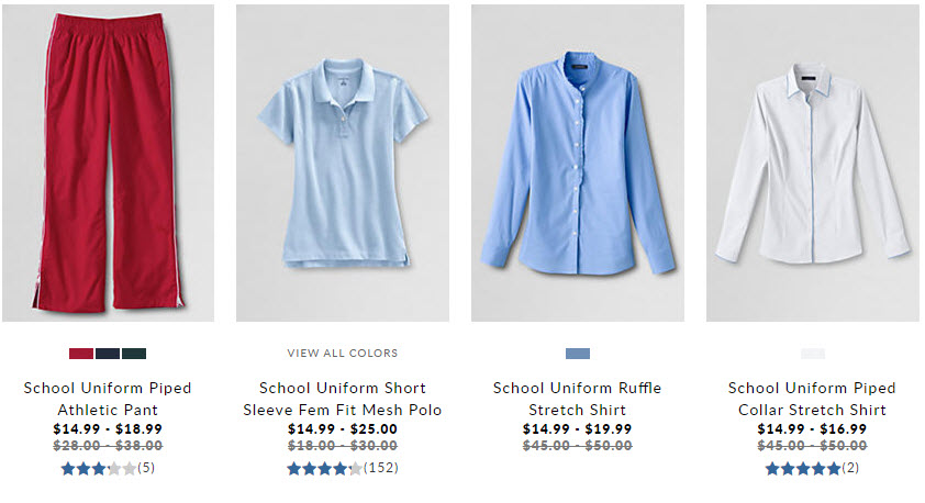 lands end school uniform sale