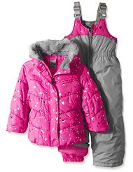 little girls jacket and snow bibs