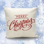 merry christmas pillow cover