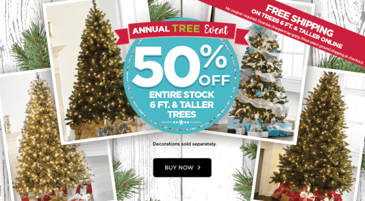 michaels 50 off christmas trees free shipping - Michaels Christmas