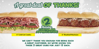 subway customer appreciation