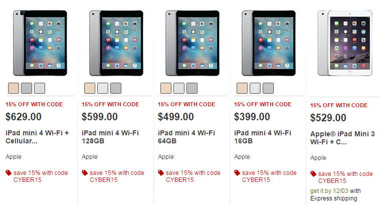 target cyber monday apple