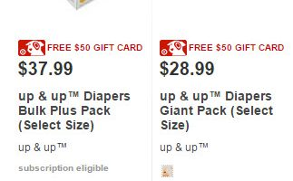 target up and up diapers