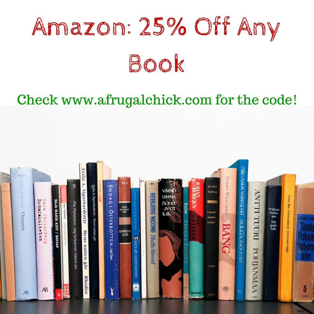 Amazon- 25 Off Any Book