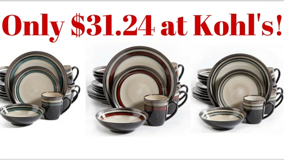 & Kohlu0027s: Gibson Elite 16-Piece Dinnerware Set Only $31.24! (Was $99.99)