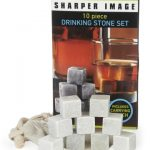 SHARPER IMAGE 10-Piece Drinking Stone Set