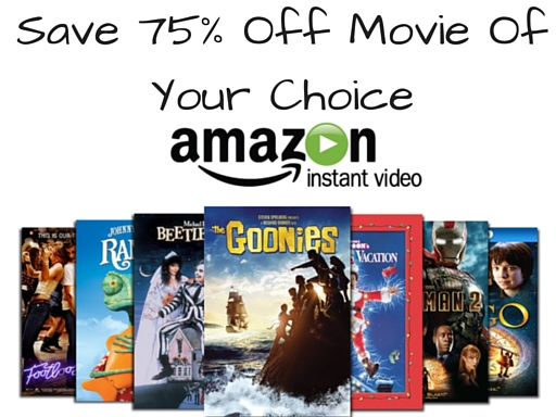 Save 75% Off Movie Of Your Choice