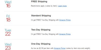 amazon holiday shipping schedule 2015