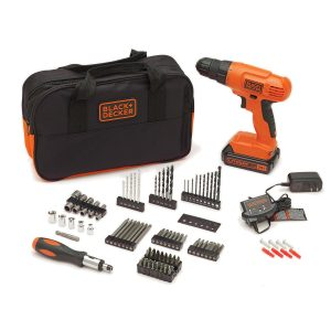 black and decker drill kit