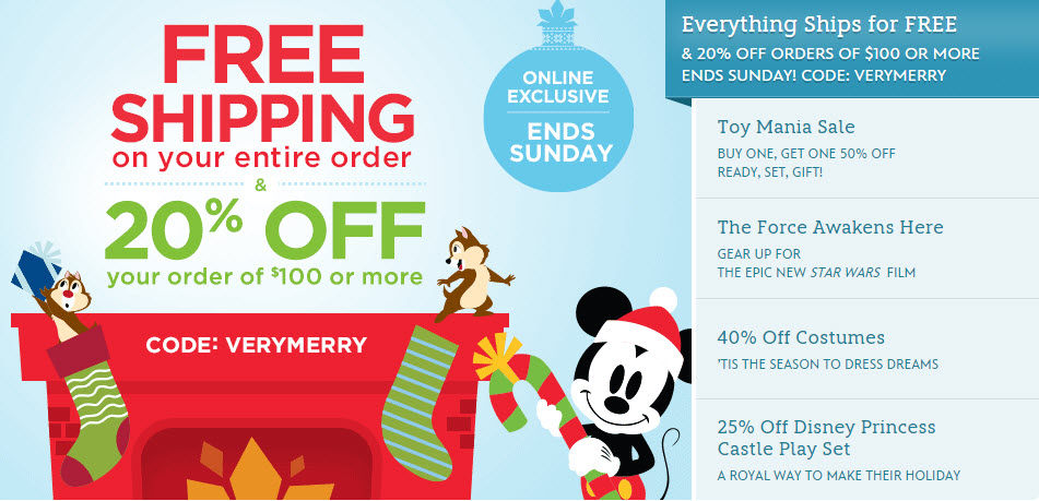 Disney Store offers free shipping on orders over $75 with the code SHIPMAGIC. Otherwise, shipping charges are calculated based on order size and total. Standard and expedited shipping .