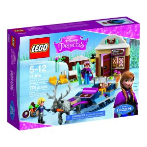 lego anna and kristoff sled