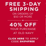 old navy green monday sale