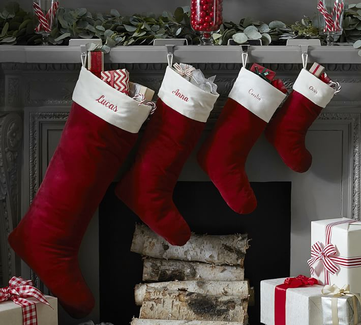 Pottery Barn Personalized Velvet Stockings As Low As 4