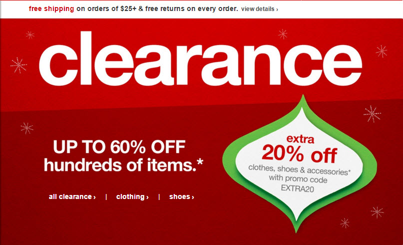 after christmas sale at target up to 60 off clearance clothes shoes accessories jewelry extra 20 off