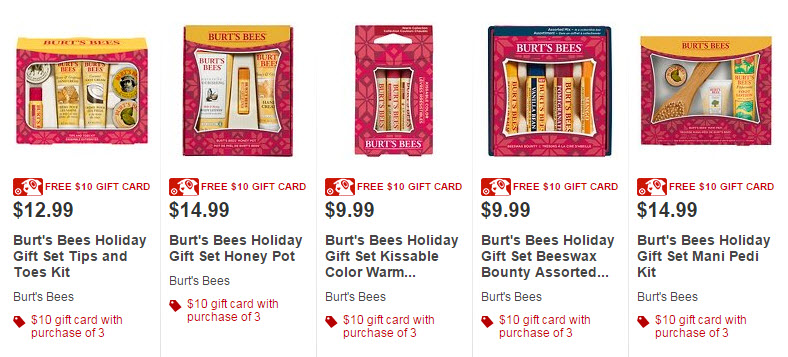 target burts bees gift card deal