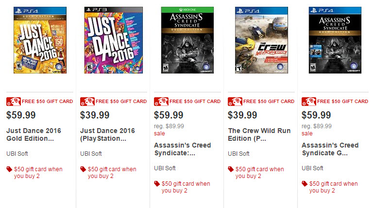 target gift card deal video games