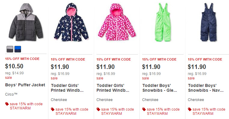 target outerwear sale examples