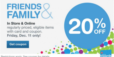 walgreens friends and family sale